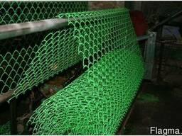 Сетка Рабица с ПВХ покрытием (цвет: зеленый), ячейка 25х25мм