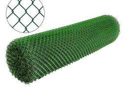 Сетка в рулоне Рабица зеленая, с ПВХ-покрытием, сітка Рабиця зелена, 50х50, 1,5м, 10м. п.