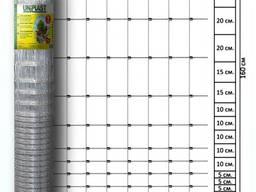 """Сетка шарнирная 160/15/15 высота 1.6м длина 50м (облегченная) оцинкованная """"Унипласт"""""""