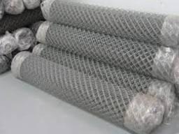 Сетка плетеная рабица оцинкованная 50х50х2, 5 мм 1, 5х10 м