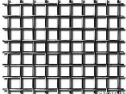 Сетка тканая частично рифленая стальная