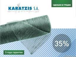 Затеняющая сетка Karatzis зеленая (4х50) 35%