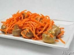 Шампиньоны с морковкой по-корейски