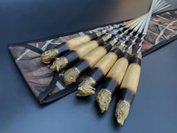 Шампуры Дачные в чехле из плотной ткани 6шт