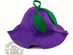 """Шапка для бани """"Колокольчик"""" (фиолетовый фетр)"""