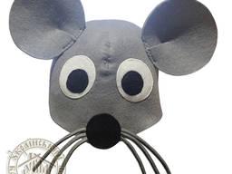 """Шапка для бани """"Мышка"""" (серый фетр)"""