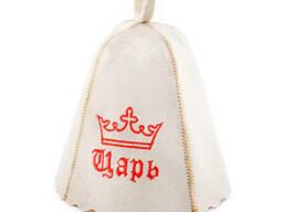 Шапка для сауны с вышивкой 'Царь ', Saunapro