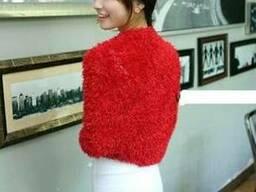 Шарф трансформер, женский шарф красный