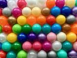 Шарики глянцевые, перламутровые, мячики для бассейна, кульки - фото 1