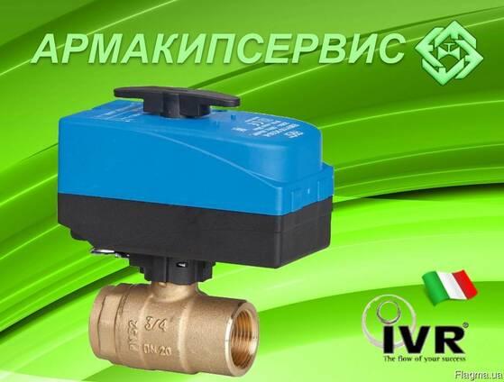 Шаровый кран с электроприводом IVR (Италия)