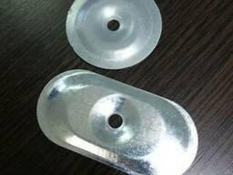 Шайба для крепления ПВХ мембраны овальная 0,65 мм