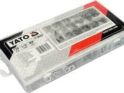 Шайби стопорні Ø3-10 мм YATO різної форми в пластиковій коробці, набір 720 шт