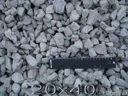 Щебень гранитный фр.20*40мм.