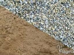 Щебень, Песок, Отсев, Шлак навалом и в мешках