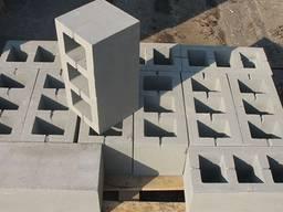 ЩебнеБлок Блок Стеновой, Строительный 390*190*190 мм.