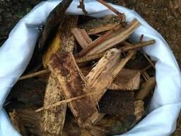 Щепа , Отходы от колки дров