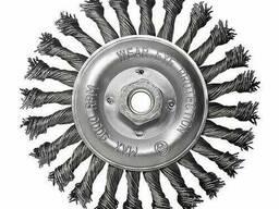 Щетка дисковая S&R, стальная плетенная проволока 150. ..