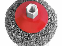 Щетка конусная 115 мм, для УШМ, М14 (витая проволока). ..