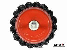 Щітка чашка зачисна зі сталевих плетених дротів до дрилі YATO Ø65 мм 12500 об/хв зі. ..
