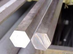 Купить Шестигранник стальной г/к сталь 3,10, 20, 35, 45, 40Х