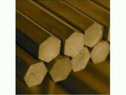 Шестигранник латунный 8мм - 55мм ЛС59-1; порезка доставка