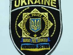 Шеврон Международной Полицейской Ассоциации на липучке