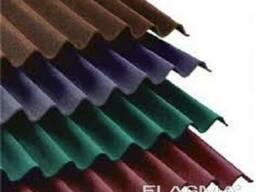 Волновой цветной шифер синий Ф- 1750 х 1130м