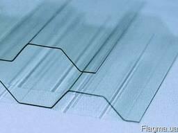 Шифер прозрачный ПВХ пластиковый 2000 х 1050 х 0,8мм
