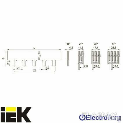 Шина соединительная PIN (штырь) 3Р 100А длина 1м ИЭК