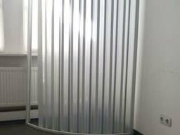 Ширма для душа угловая полукруглая 90х90х185 см
