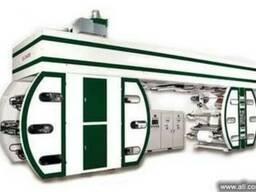 Широкорулонная флексографическая машина с центральным печатн