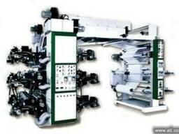 Широкорулонная флексографическая машина с ярусного типа