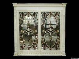 ШКАФ-КУПЕ с витражными зеркалами (ясень)