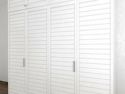 Шкаф купе со складными дверями из дерева панельными Тавол Панел 3СКЛ2А с антресолью. ..