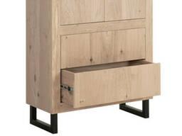 Шкаф в стиле лофт для офиса из натурального дерева