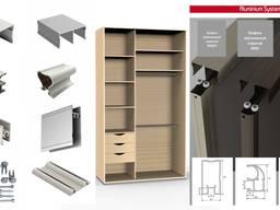Шкафы-купе, встроенные, угловые, диагональные, каркасные, пи
