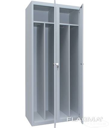Шкафы одежные на 2 отделения (с полками и перегородками)