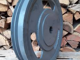 Шкив большой на измельчитель веток 30 кг, диаметр 460 наружн