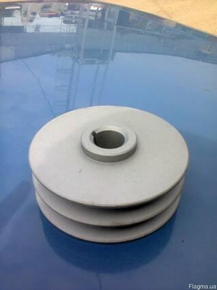 Шкив металлический наружным диаметром 125 мм. Новый.