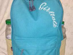 Школьный городской стильный рюкзак Арт LAMA голубой цвет