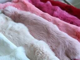 Шкуры кролика выделанные крашенные оптом продам
