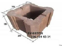 Шлакоблок для столба забора 280х280х190 из гранитного отсева