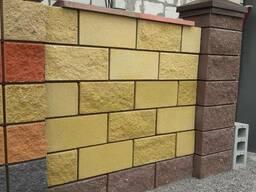 Шлакоблок Блок заборный декоративный рваный колотый