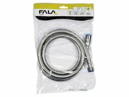 Шланг для душу FALA гладкий срібний з ПВХ G1/2 1.5 м