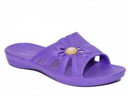 Шлепки женские Slippers (фиолетовые)