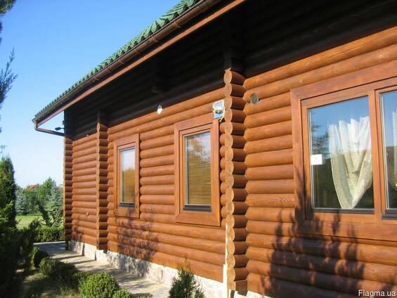 Шлифовка и покраска деревянных домов.