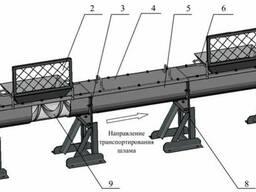 Шнековый транспортер для перемещения шлама
