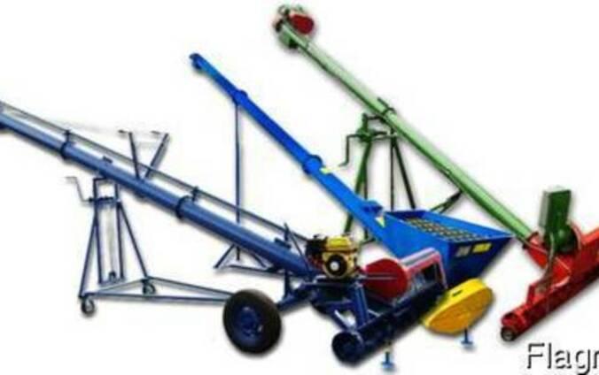 Шнековий транспортер пересувний Зерно навантажувач Зерномет