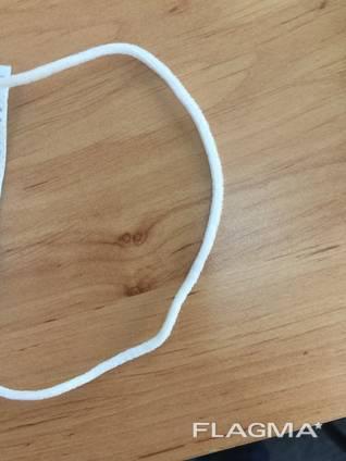 Тесьма круглая 2мм белая