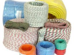 Шнур плетеный капроновый полиамидный диаметром 5-20 мм.
